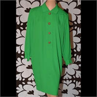 Green dress with collar