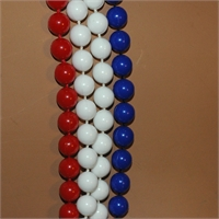 Very Long And Equally Lovely Red, Blue & White Necklace, bild 945