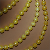 4 Strand Yellow Bead Necklace