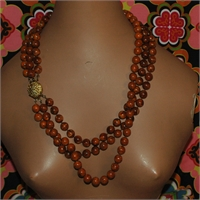 Gorgeous Three Strand Necklace with  Beautiful Clasp